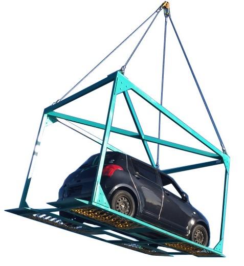 Car Transport Frame - Crane Lifted